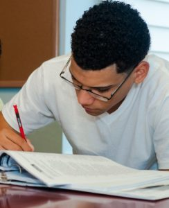 Identity Youth Studying for GED