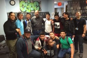 Group of Identity youth at the Crossroads Youth Opportunity Center