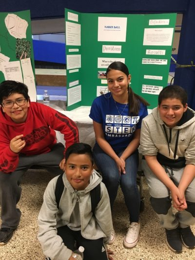 Identity Students at Neelsville Middle School Science Fair