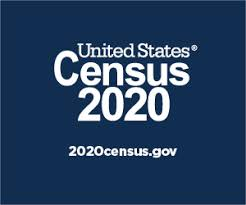 Census 2020 logo with web address